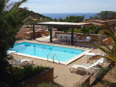 Photo for Villa Sole 1- 3 rooms with 6 beds, swimming pool between granite and sea
