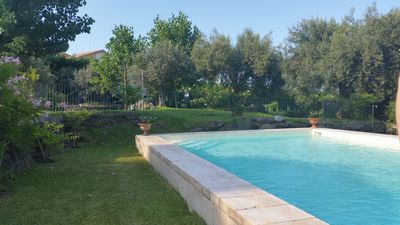 Photo for Sicilian Villa with Pool, Air Conditioning, Vineyard and Amazing Ocean Views