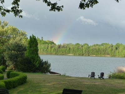 Photo for Holiday house with lake view and a large lake plot and private swimming area