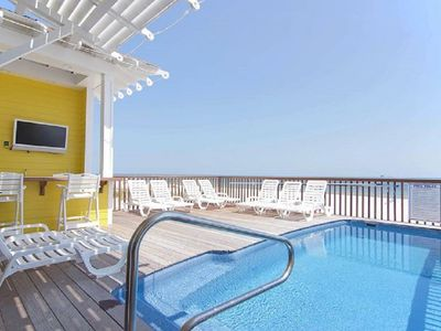 Photo for Luxury Gulf Front Duplex with Private Heated Pool accommodates 19 per side!