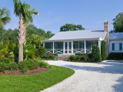 Photo for Charming Waterfront Cottage only 2 miles from Downtown & 12 miles to beach