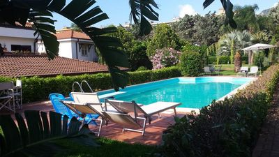 Photo for Large Independent Villa with Pool, A/C, Wi-Fi, Garden, Patio in Mondello/Palermo