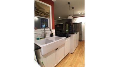 The large kitchen sink