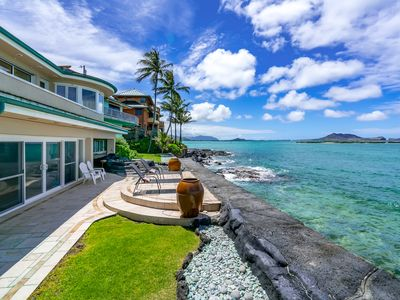 Imagine it! -Spectacular Oceanfront Home Steps From Lanikai Beach..
