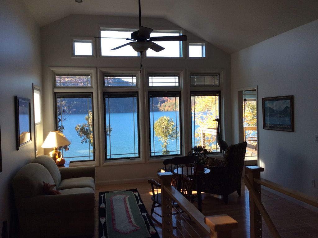 highly rated lake george waterfront home wi vrbo