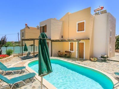 Photo for Villa Konstantina: Large Private Pool, Sea Views, A/C, WiFi, Eco-Friendly