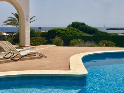 Photo for Villa next Binibeca, one level and first sea line salad pool, air-conditioned