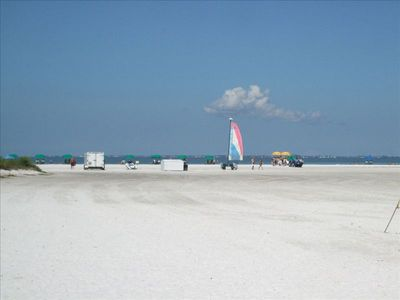 7 Miles of White Sugar Sand Beach Right Outside your Door!