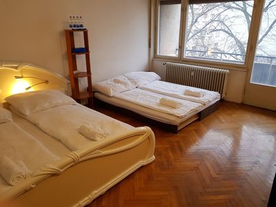 Big room Z with 2 beds and big balcony and a lot sunlight coming inside if you w