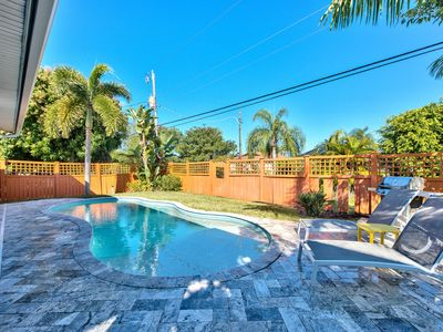 Photo for Private & Upscale Pool Home; Walk to Vanderbilt Beach in 5 Minutes; Completely Renovated!