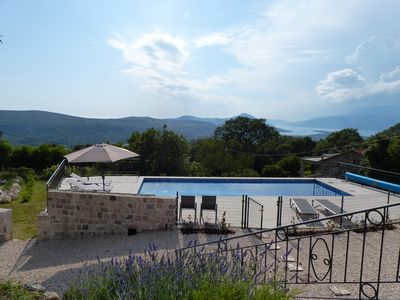 Photo for Spacious and recently renovated stone house with swimming pool and stunning view