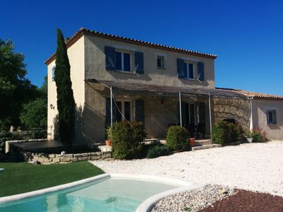 Photo for Beautiful villa with private pool between sea and mountains