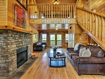 Photo for NEW! Cabin w/ Hot Tub & Deck - 5 Mins to Dollywood