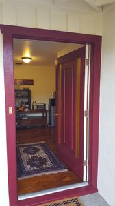 Entrance hall and kitchenette