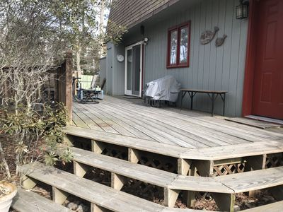 Front of house and deck