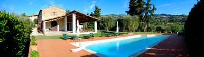 Photo for Holiday flat located in Tuscan villa with pool located in the heart of Versilia