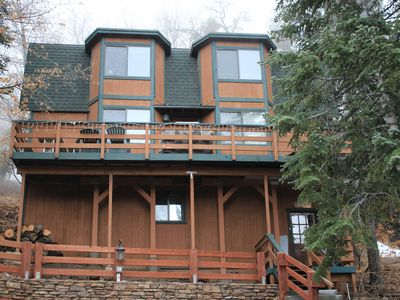 Photo for Bear Pause Cabin, 5 minute walk to Bear Mountain and zoo- New Owner Specials