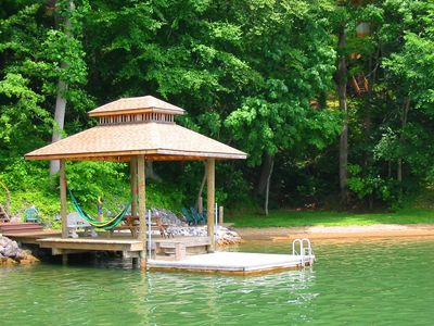 Dock and private beach area