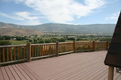 View from front deck across valley