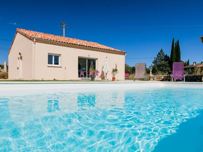 Photo for Rental Cottage (8pers) + lodge (5 pers) comfort Swimming pool 2 to 13 Pers South Ardèche