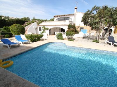 Photo for Comfortable Villa with private pool and gardens in family-friendly Moraira