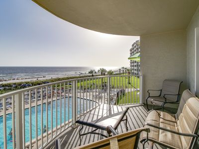 Photo for Oceanfront condo w/ sweeping views, shared pool, hot tub - snowbirds welcome!