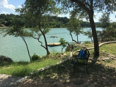 Photo for Medina Lake, River  w/ 150 Ft. Riverfront  w/ 30ft Waterslide & More