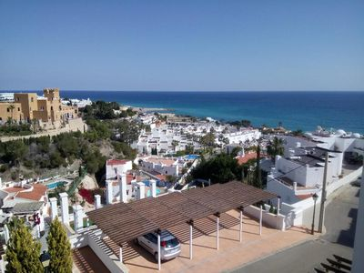 Photo for Three-bedroom house with private plunge pools and WiFi, Mojacar Playa