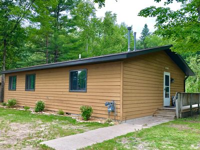 Photo for 3 bedroom cabin at AuTrain Lake! Beach, Backyard, sauna! Pictured Rocks close by