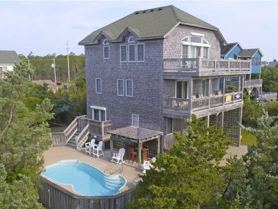 Photo for Lounge Poolside at this Oceanview Retreat! Tiki Bar, Hot Tub, Game Rm & Wet Bar
