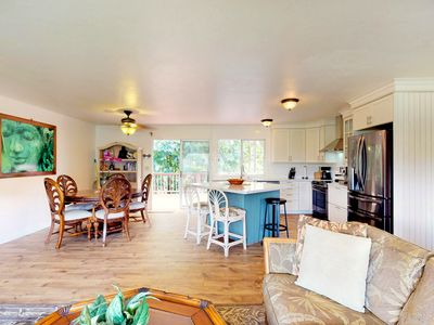 Photo for Dog-friendly, recently remodeled Princeville home w/ large lanai, yard, & views