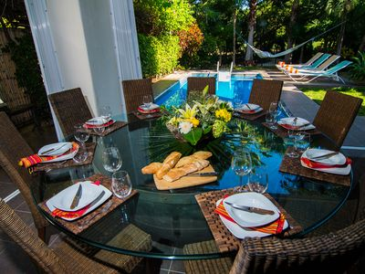 Photo for Luxury villa with private pool, walking to beach and 5th avenue!