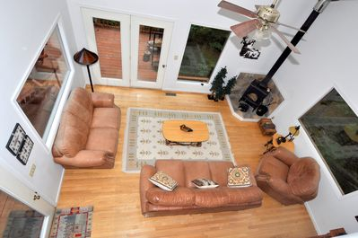 A View from the Loft of the Main Living Space