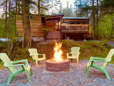 Photo for Laughingwater-a luxury tiny cabin on Big Creek!