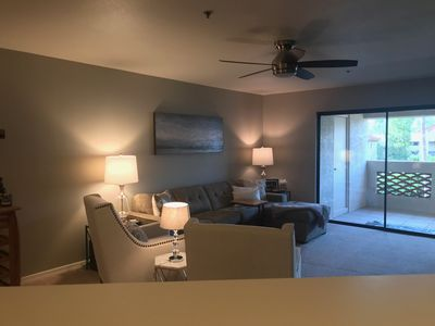 Welcome home! Open layout, one level, comfortable and new furnishings!