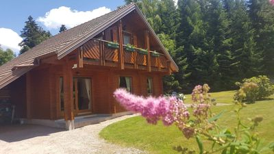 Photo for Chalet 6-8 pers any comfort in Gérardmer / top location, refined, garden, carport