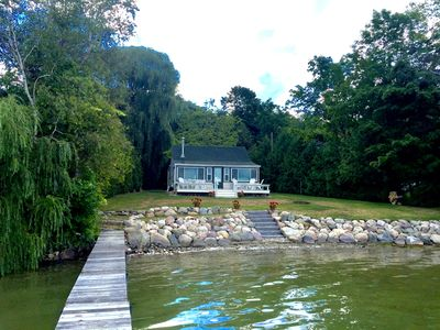Photo for Lake Front Cottage on Lake Leelanau with private setting!