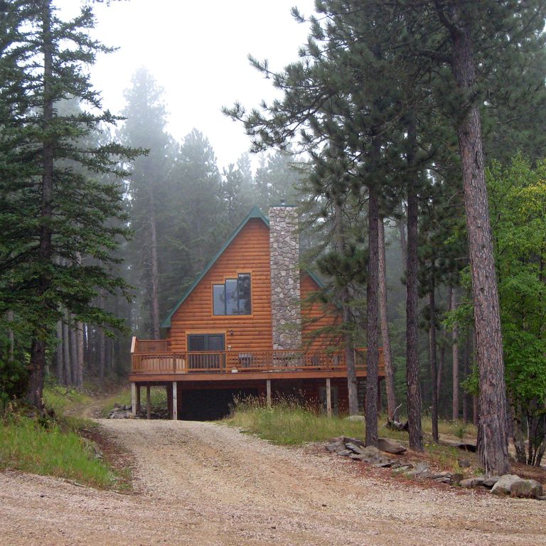black hills vacation home log cabin near lead sd lead