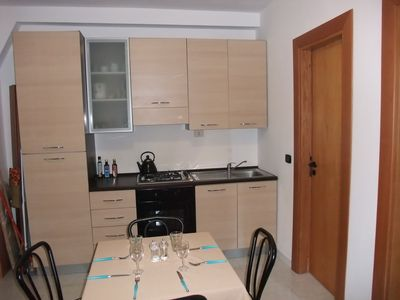 Kitchen area  in one bedroom apartment sleeps 4