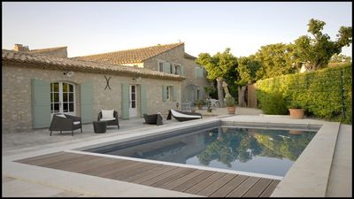 Photo for Beautiful family home with pool for 6-8 people in the countryside in Eygalières