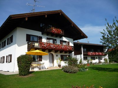 Photo for Cosy Apartment at Lake Chiemsee with South-Facing Balcony, Mountain View & Wi-Fi; Parking Available
