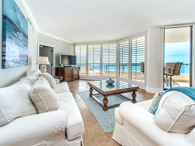 Photo for Penthouse☀Gulf & Harbor Views☀2 Step Sanitizing Process☀3BR East Pass 605