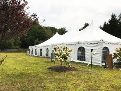 Pole Tent for Wedding Events! (Front Yard shown here)