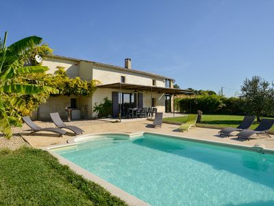 Photo for Authentic house La romance, quality, private pool, Provence Cèze Valley