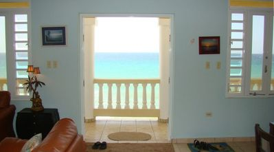 Living Room Looking to Ocean. Most say the picture doesn't do the view justice.
