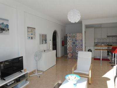Photo for Very bright and sunny apartment located 100 meters from the beach