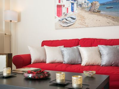 Photo for Spacious Renovated luxury flat Acropolis view