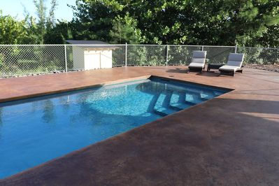 The 12X40 foot salt pool is perfect for relaxing or exercise.