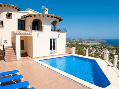 Photo for LUX VILLA, PANORAMIC SEA VIEW, SWIMMING POOL, OUTDOOR KITCHEN, WIFi, PRIVACY, AIRC, PARKING