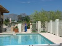 very nice and comftortable, with an excelent view of the catalina mountains and morning sunrises